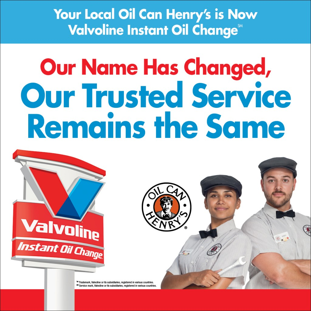 Oil Can Henry's is Now Valvoline Instant Oil Change